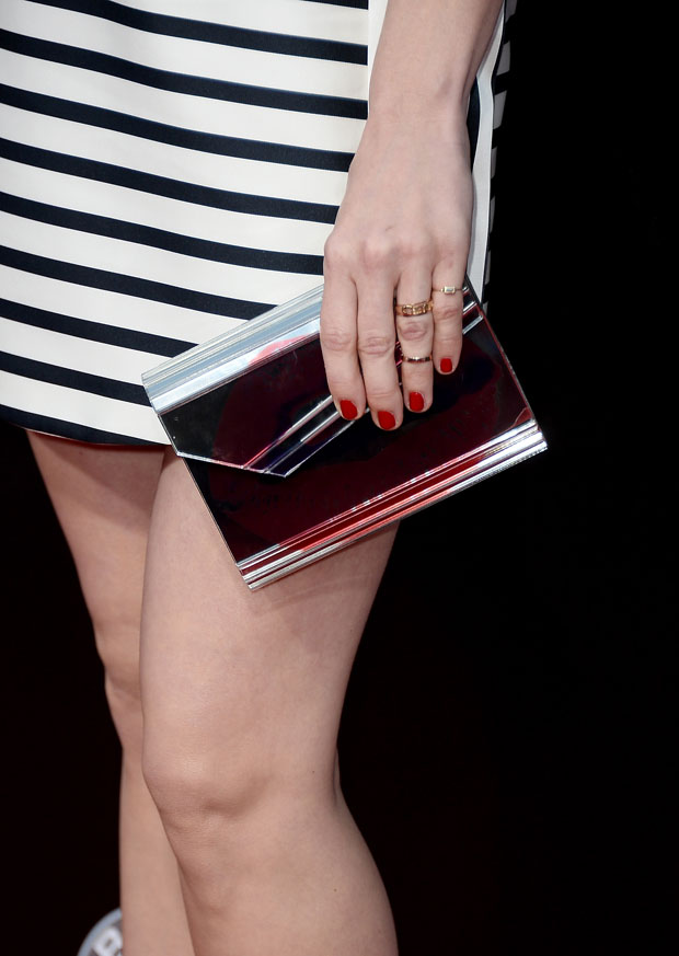 January Jones' Jimmy Choo 'Candy' clutch