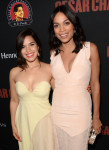 America Ferrera in Sportmax and Rosario Dawson in Antonio Berardi