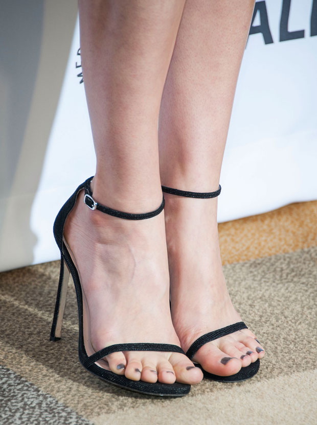 Caitlin Fitzgerald's Stuart Weitzman sandals