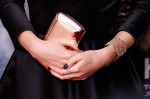 Emma Watson's Roger Vivier clutch, Jennifer Meyer rings and Aurelie Bidermann cuff