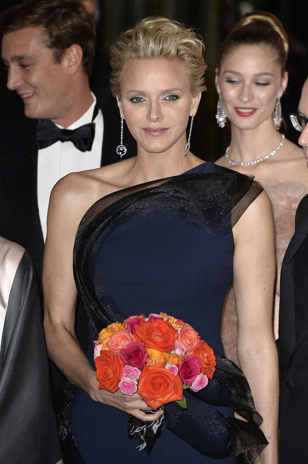 Princess Charlene of Monaco in Akris