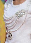 Zendaya Coleman's Oscar de la Renta embellished bouclé knit top