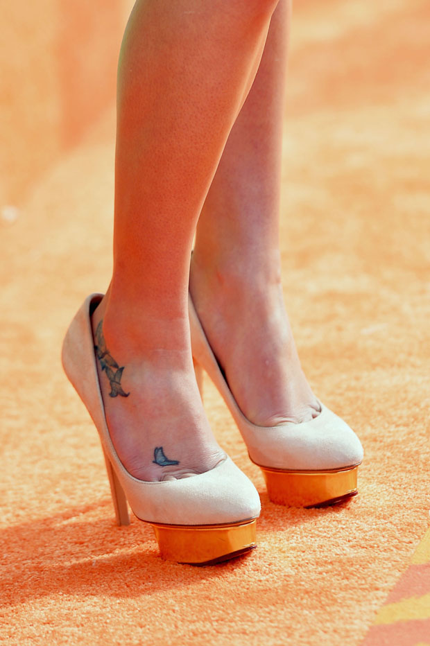 Lea Michele's Charlotte Olympia shoes