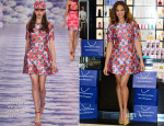 Alesha Dixon In House of Holland - 'Rose Quartz' Fragrance Photocall