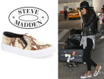 Alessandra Ambrosio's Steve Madden x The Blonde Salad 'NYC' Snake Embossed Sneakers