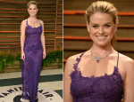 Alice Eve In Alberta Ferretti - Vanity Fair Oscar Party 2014