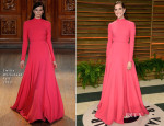 Allison Williams In Emilia Wickstead - Vanity Fair Oscar Party 2014