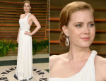 Amy Adams In Carolina Herrera - Vanity Fair Oscar Party 2014