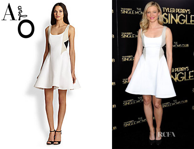 Amy Smart's Alice + Olivia Clifton Flared Dress