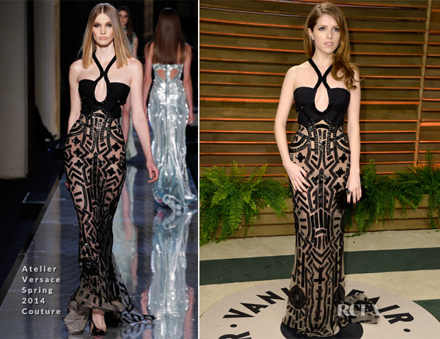 Anna Kendrick In Atelier Versace - Vanity Fair Oscar Party 2014