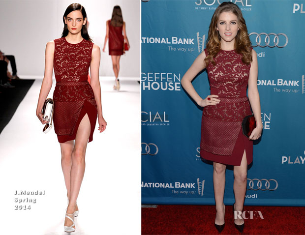 Anna Kendrick In J Mendel - Backstage At The Geffen Annual Fundraiser Honoring Steve Martin And Alan Hor
