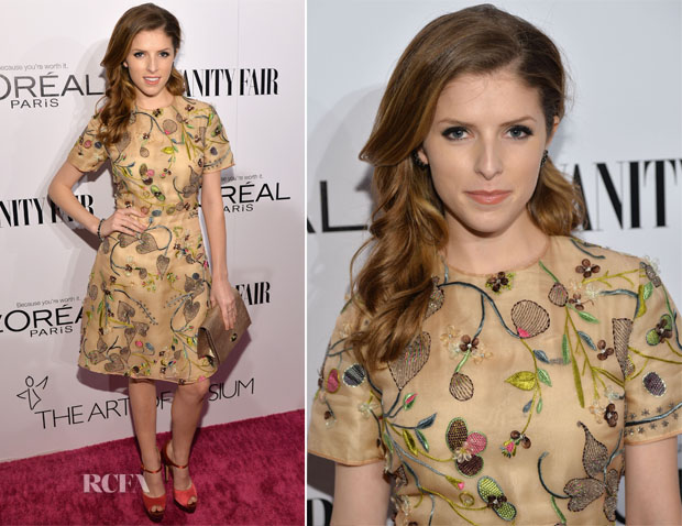 Anna Kendrick In Tory Burch  - Vanity Fair Campaign Hollywood Kick Off Event