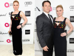 Anna Paquin In Alexander McQueen - Elton John AIDS Foundation Oscar Party