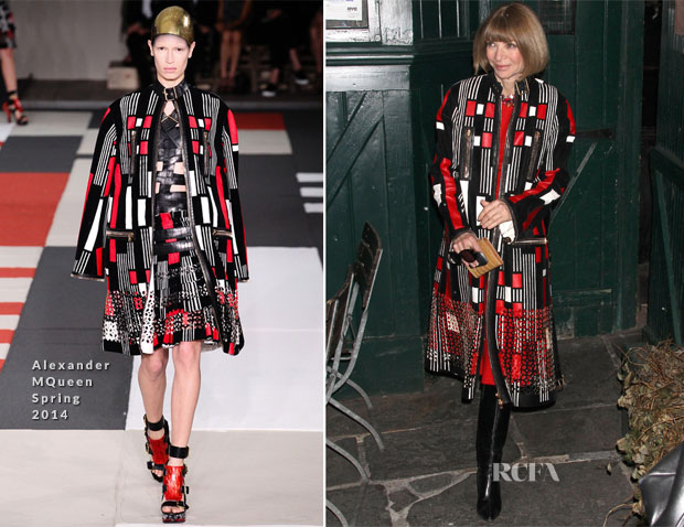 Anna Wintour In Alexander McQueen - Waverly Inn