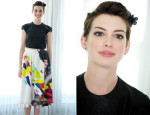 Anne Hathaway In Alice + Olivia - 'Rio 2' Miami Press Conference