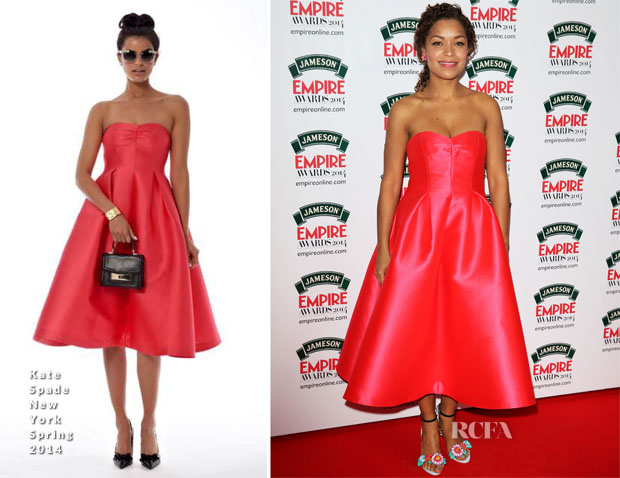 Antonia Thomas In Kate Spade New York -  Jameson Empire Awards 2014