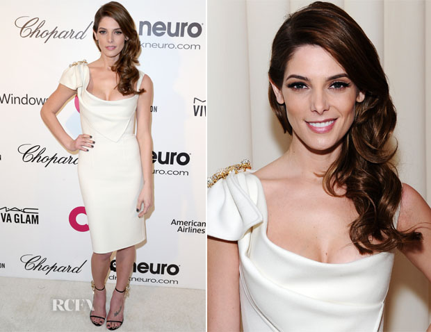 Ashley Greene In Dsquared - Elton John AIDS Foundation Oscar Party