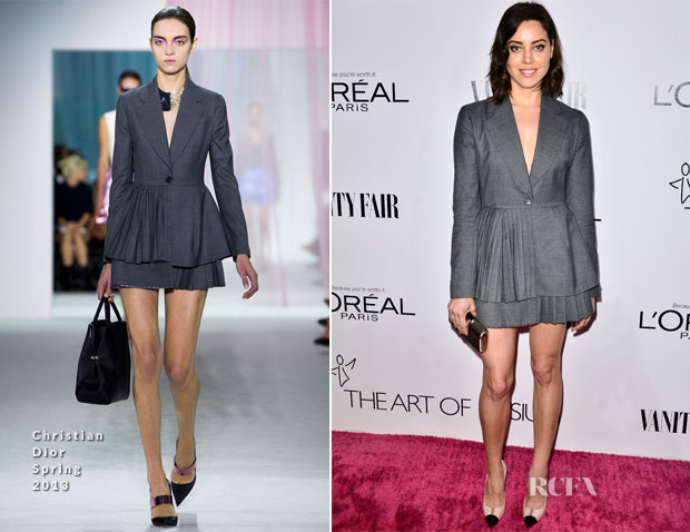 Aubrey Plaza In Christian Dior - Vanity Fair Campaign Hollywood Kick Off