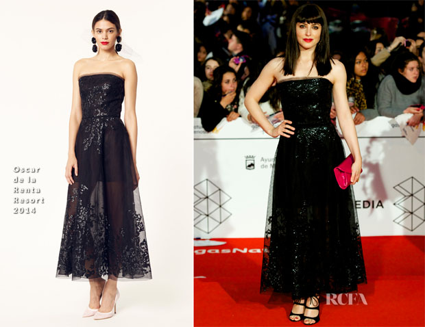 Barbara Lennie In Oscar de la Renta - Malaga Film Festival 2014 Closing Ceremony