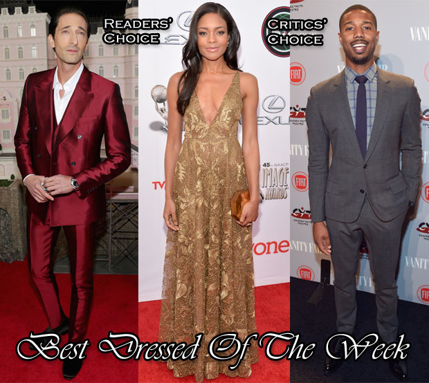 Best Dressed Of The Week - Naomie Harris In Valentino, Adrien Brody In Dolce & Gabbana and Michael B