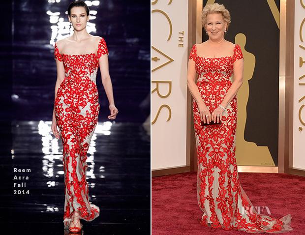 Bette Midler In Reem Acra - Oscars 2014