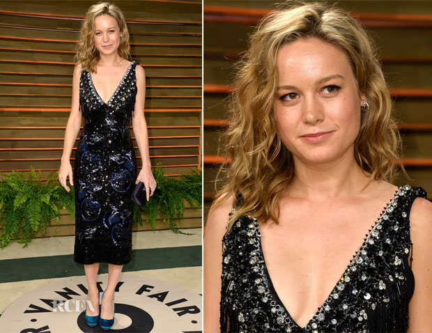 Brie Larson In Miu Miu - Vanity Fair Oscar Party 2014