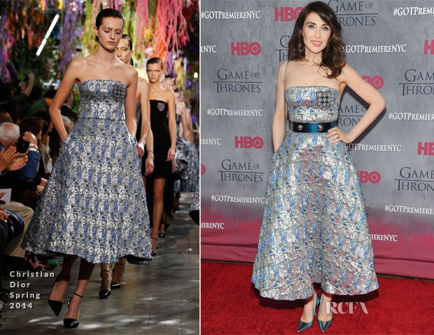 Carice van Houten In Christian Dior - 'Game Of Thrones' Season 4 New York Premiere