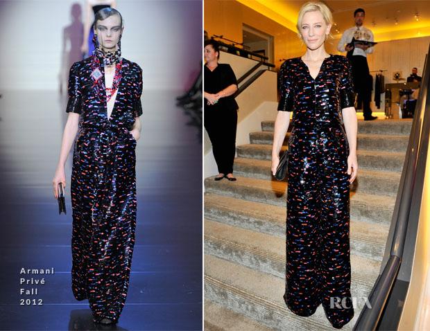 Cate Blanchett In Armani Privé - Giorgio Armani Celebrates Martin Scorsese And Paolo Sorrentino