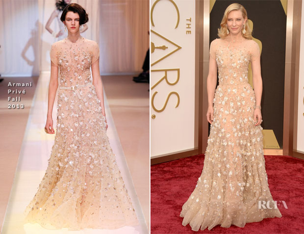Cate Blanchett In Armani Prive - 2014 Oscars