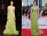Celia Frejeiro In Naeem Khan - 17th Malaga Film Festival 2014 Opening Ceremony