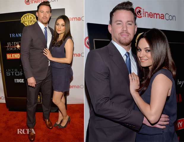 Channing Tatum and Mila Kunis In Acne Studios - CinemaCon 2014 20th Century Fox Special Presentation