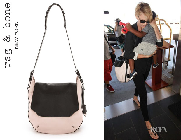 Charlize Theron's Rag & Bone 'Bradbury Flap Hobo' Bag