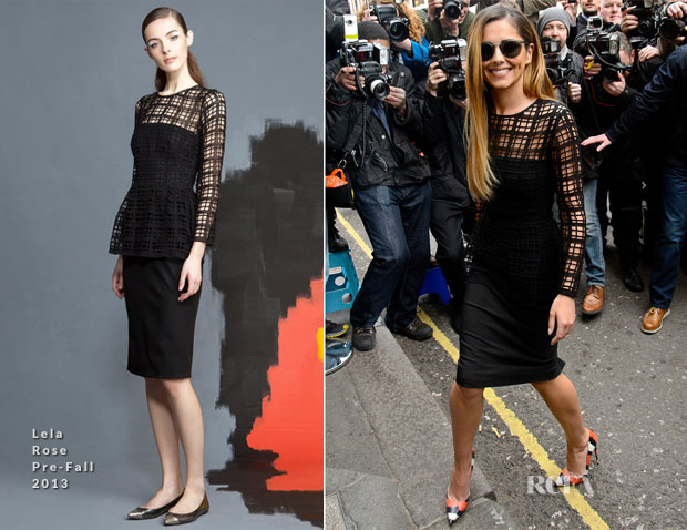 Cheryl Cole In Lela Rose Pre-Fall - X Factor Press Conference