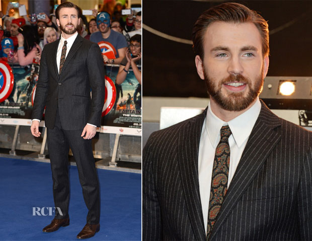 Chris Evans In Etro - Captain America The Winter Soldier' London Premiere