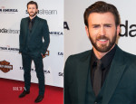 Chris Evans In Gucci - 'Captain America: The Winter Soldier' Paris Premiere