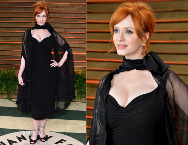 Christina Hendricks In L'Wren Scott - Vanity Fair Oscar Party 2014