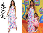 Christina Milian's Nasty Gal Crystal Matrix Dress