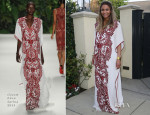 Ciara In Naeem Khan - Ciara's Baby Shower