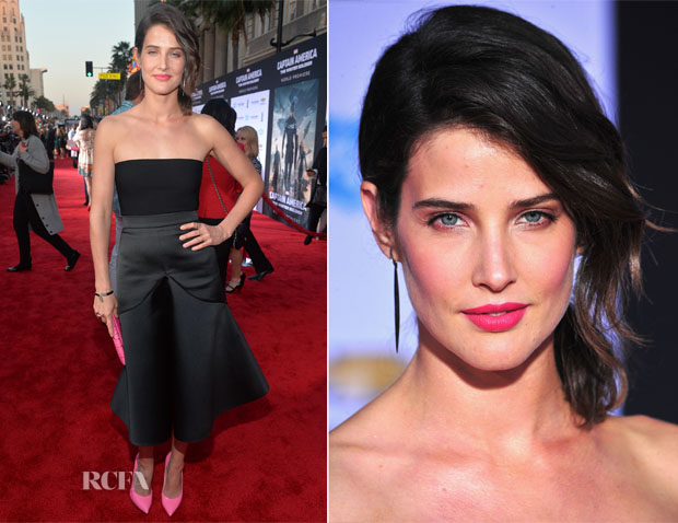 Cobie Smulders In Stella McCartney - 'Captain America The Winter Soldier' LA Premiere