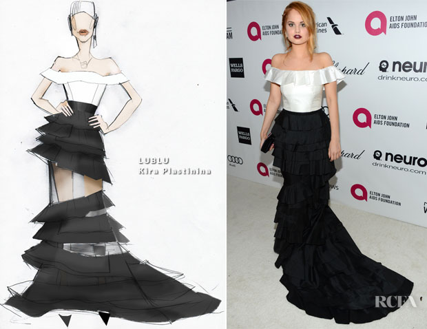 Debby Ryan In LUBLU Kira Plastinina -  Elton John AIDS Foundation Oscar Party2