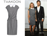 Diane Kruger's Thakoon Contrast Collar Dress