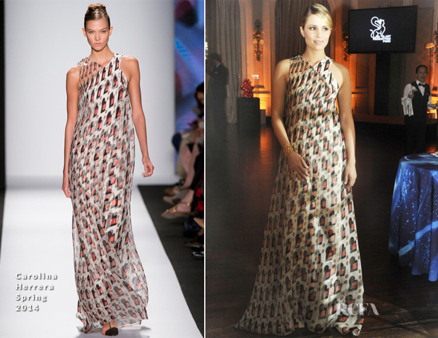 Dianna Agron In Carolina Herrera - Art Production Fund's White Glove Gone Wild Gala Honoring Carolina Herrera