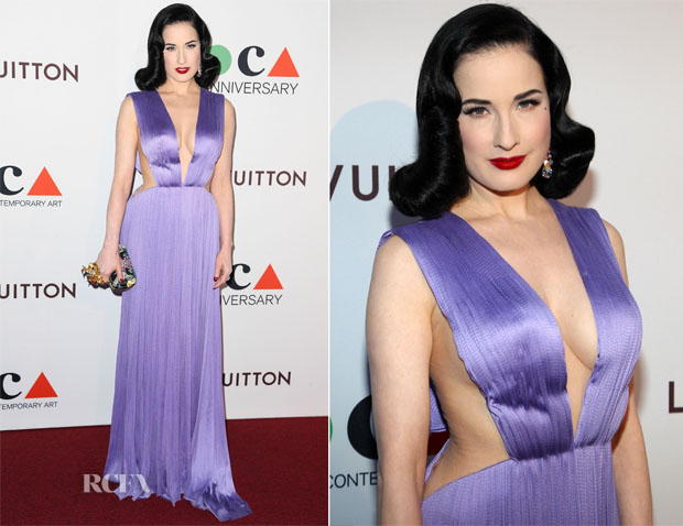 Dita Von Teese In Maria Lucia Hohan - Museum Of Contemporary Art (MOCA) 35th Anniversary Gala