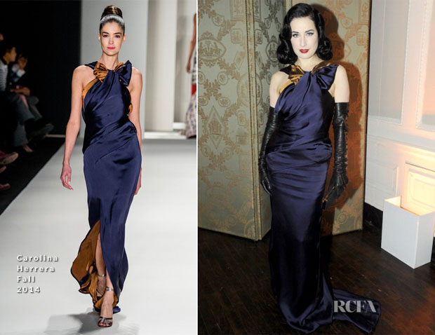 Dita von Teese In In Carolina Herrera - Art Production Fund's White Glove Gone Wild Gala Honoring Carolina Herrera