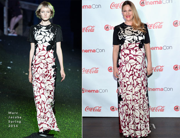 Drew Barrymore In Marc Jacobs - CinemaCon 2014 The CinemaCon Big Screen Achievement Awards