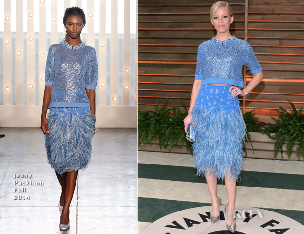 Elizabeth Banks In Jenny Packham - Vanity Fair Oscar Party 2014