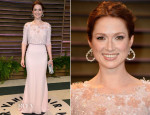Ellie Kemper In Georges Hobeika - Vanity Fair Oscar Party 2014
