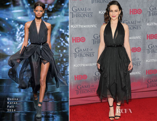 Emilia Clarke In Donna Karan - 'Game Of Thrones' Season 4 New York Premiere