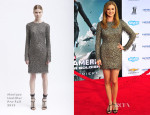 Emily VanCamp In Monique Lhuillier - 'Captain America: The Winter Soldier' LA Premiere
