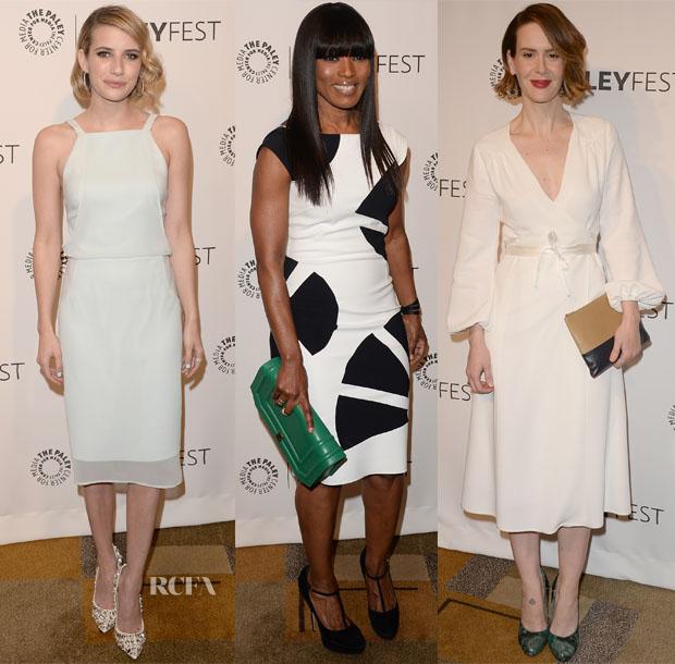 Emma Roberts, Angela Bassett & Sarah Paulson - PaleyFest 2014 Closing Night Presentation Honouring 'American Horror Story Coven'